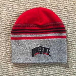 Ohio State knit hat.